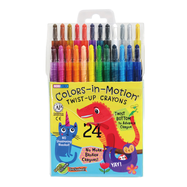 24 Colors-in-Motion crayons