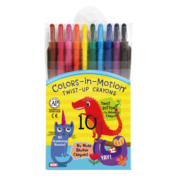 10 Colors-in-Motion crayons
