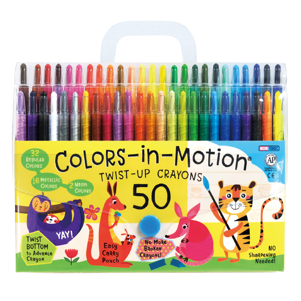 50 Colors-in-Motion crayons