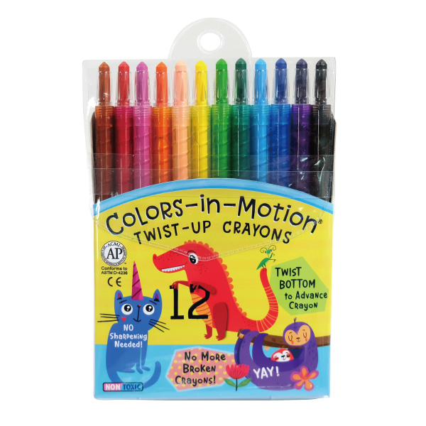 12 Colors-in-Motion crayons