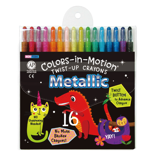 16 Metallic Colors-in-Motion crayons